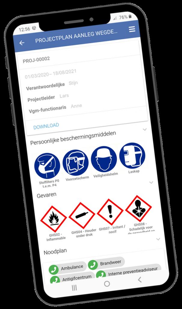 VCA-Online preview projectplan app smartphone