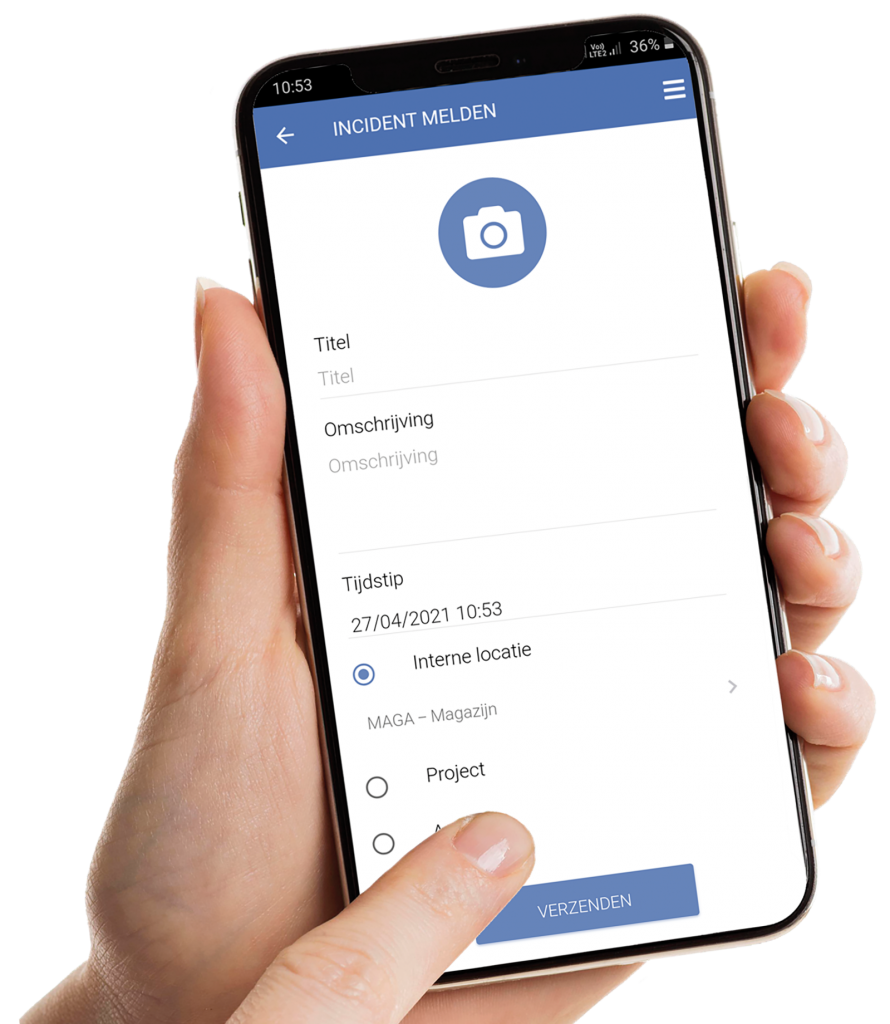 VCA-Online preview incidentmelding app smartphone