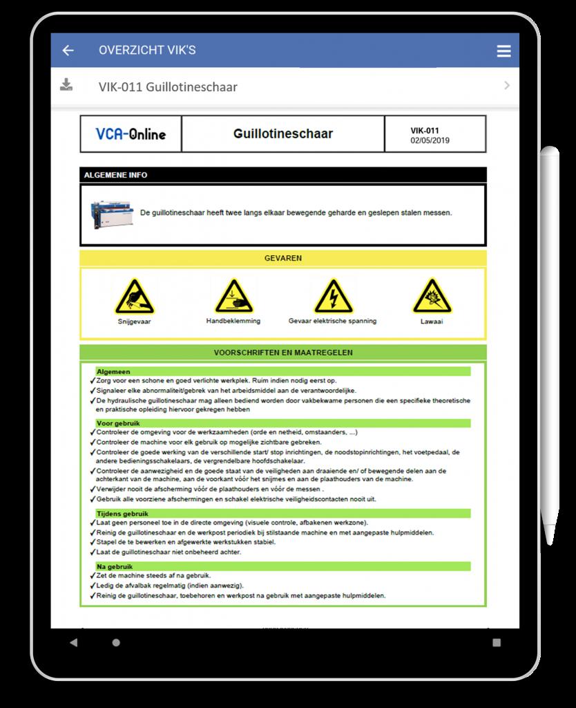 VCA-Online preview VIK guillotineschaar in tablet